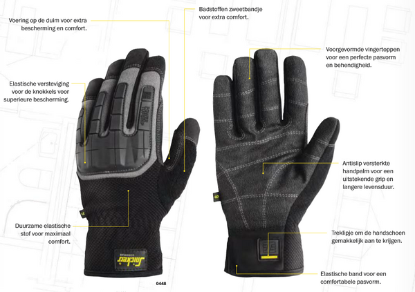 Snickers 9584 Pow Tufgrip Gloves