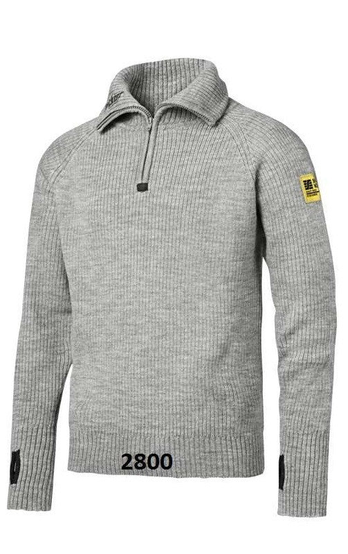 Snickers 2905 1/2-Zip Wollen Sweater - NEW - AANRADER - - Snickers Werkkledij