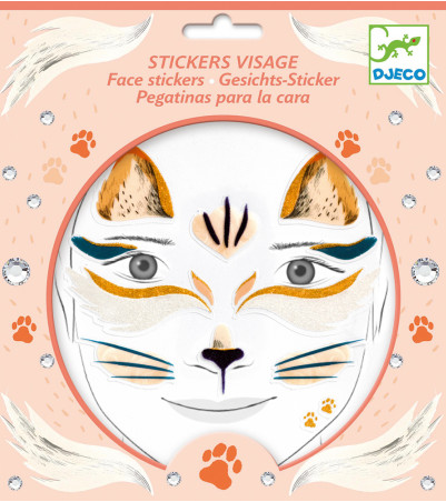 Cat Face Stickers by Djeco