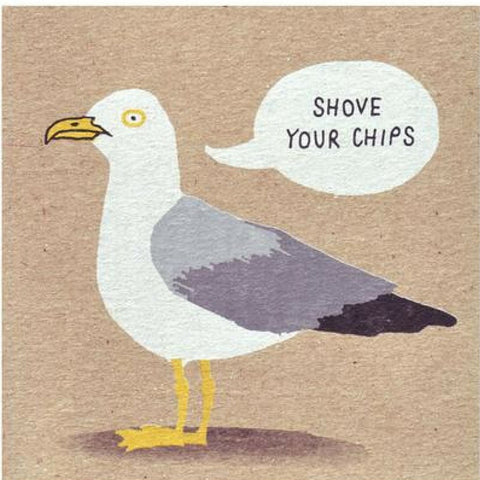 Angry Seagull Card