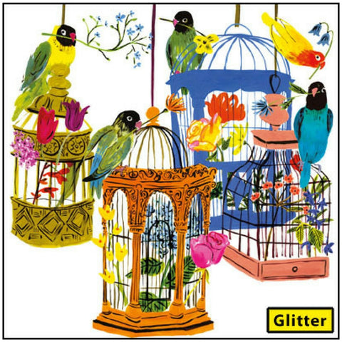 Buy Beautiful Bird Cages Card from Hyde and Seek