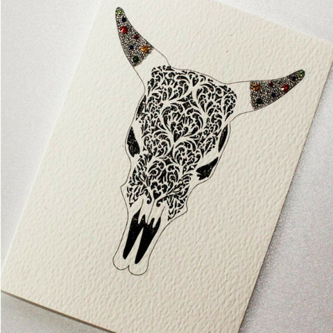 Buy The Bull Skull Card from Hyde and Seek