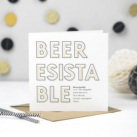 Beeressistable Beer Card
