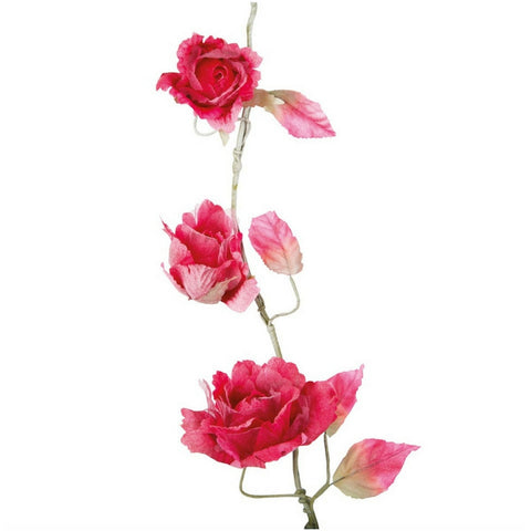 Berry Pink Rose Garland by Sass & Belle