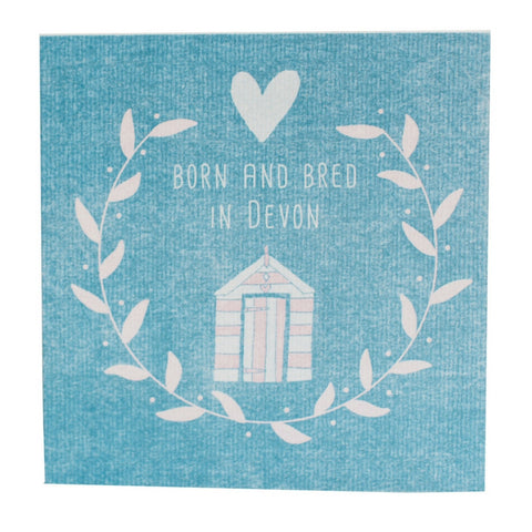 Born and Bred in Devon Beach Hut Card from Hyde and Seek