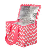 Pink Chevron Lunch Bag by Sass & Belle
