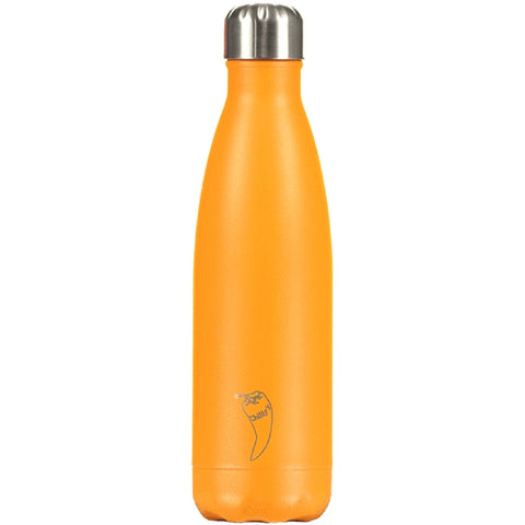 Chilly's Neon Orange Water Bottle