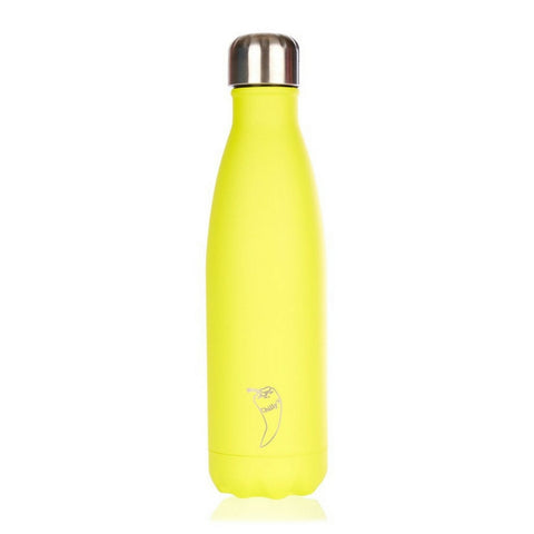 Chilly's Neon Yellow Water Bottle