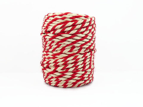 BAKERS CHUNKY TWINE IN BEEFEATER RED AND WHITE