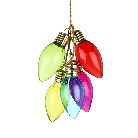 Coloured Light Bulb Decoration