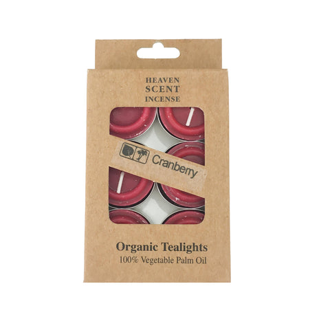 Box of 6 Cranberry Fragrance Tea Lights