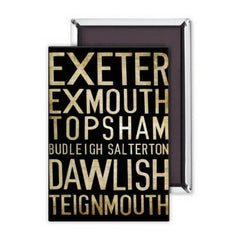 Exeter Fridge Magnet from Hyde and Seek