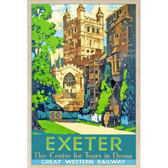 Exeter Cathedral Wooden Postcard from Hyde and Seek