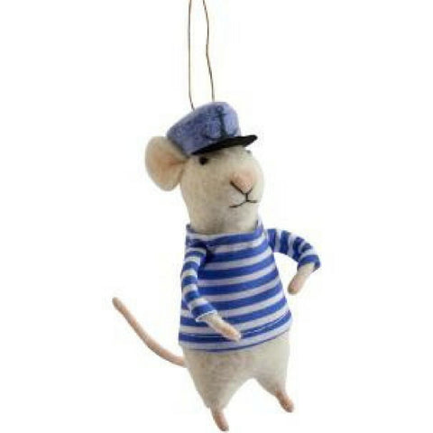 Buy Felt Sailor Mouse Decoration from Hyde and Seek