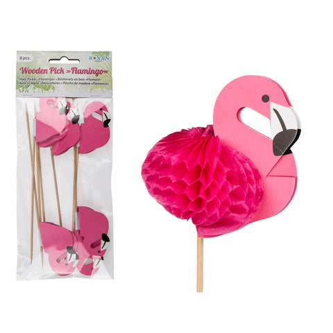 Flamingo Wooden Cocktail Picks