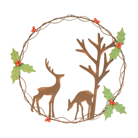 Forest Scene Christmas Wreath
