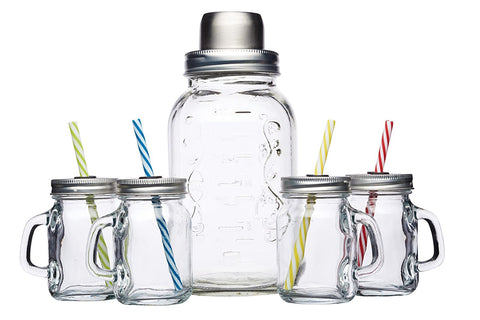 GLASS COCKTAIL MAKER SHAKER KIT