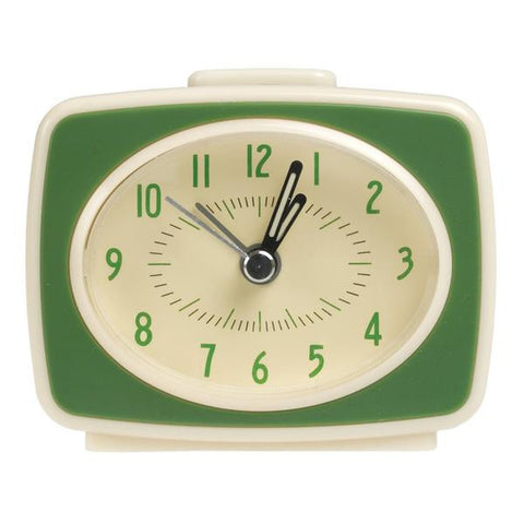 Retro TV Style Alarm Clock in Green from Hyde and Seek
