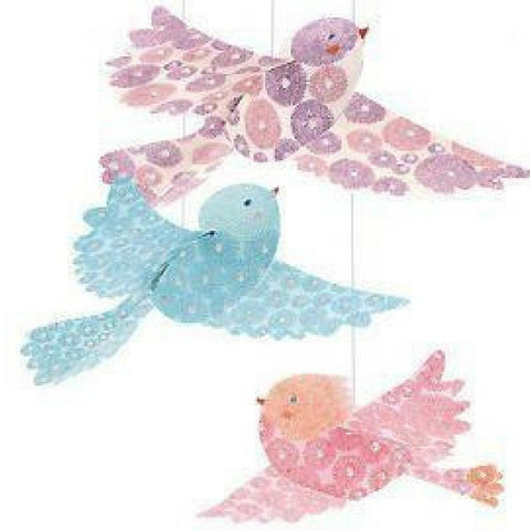 Hanging Decorative Glitter Birds by Djeco