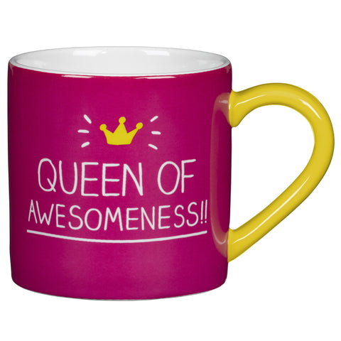 Queen of Awesomeness Mug by Happy Jackson
