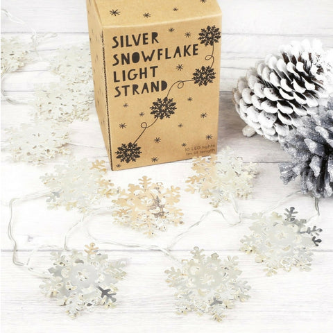 Silver Snowflakes Lighting