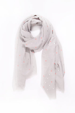 Light Grey and Silver Triangle Scarf
