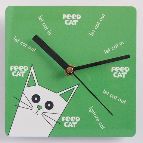 PUSSKIN WALL CLOCK IN GREEN