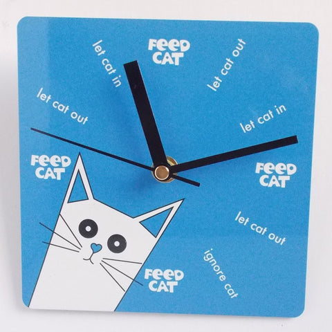 PUSSKIN WALL CLOCK IN BLUE