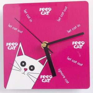 PUSSKIN WALL CLOCK IN PINK