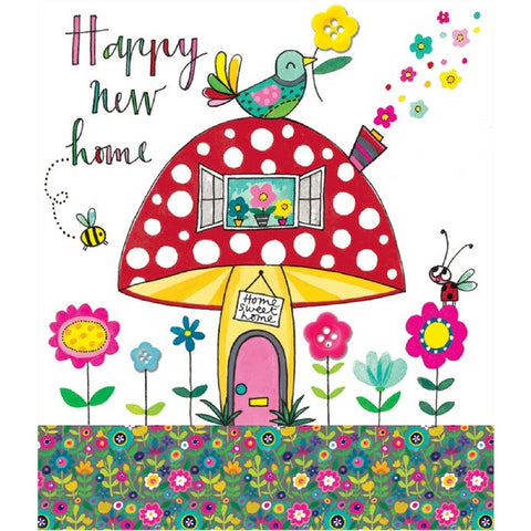 Buy Happy New Home Toadstool Card from Hyde and Seek