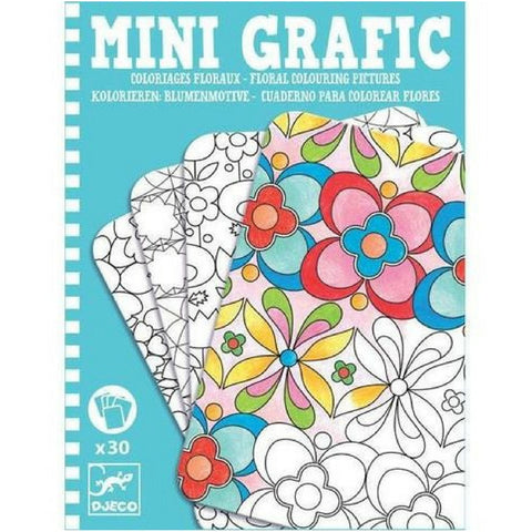 Mini Floral Colouring Pictures by Djeco