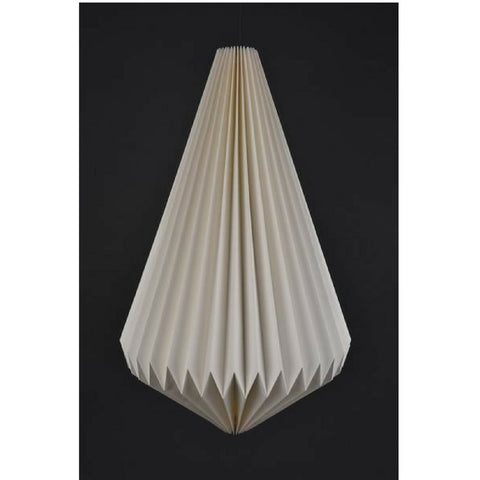 NATURAL PLEATED PAPER PENDANT LAMPSHADE