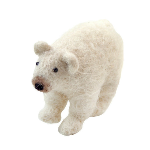 Nordic Polar Bear Felt Decoration