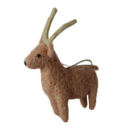 Nordic Felt Reindeer Decoration
