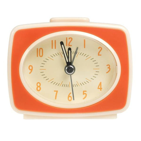 Retro TV Style Orange Alarm Clock from Hyde and Seek