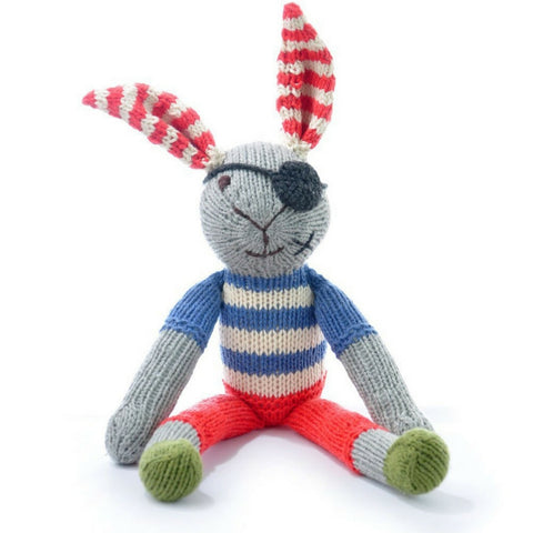 Pirate Rabbit Knitted Toy