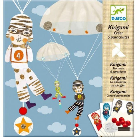 Kirigami Folding Parachutes for Boys by Djeco