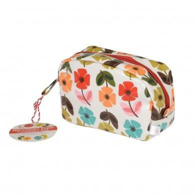Mid Century Poppy Make Up Bag from Hyde and Seek