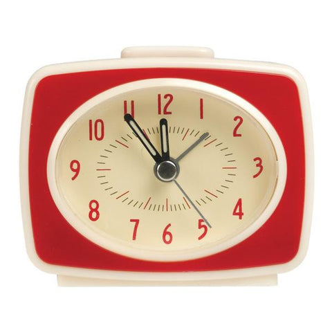 Retro TV Style Red Alarm Clock from Hyde and Seek