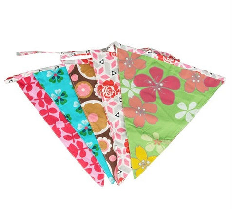 Bright Retro Fabric Triangle Bunting from Hyde and Seek