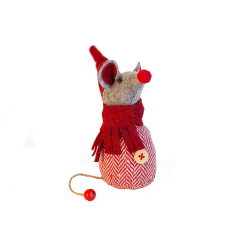 Red Tweed Mr Mouse Decoration
