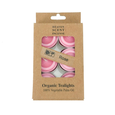 Box of 6 Rose Fragrance Tea Lights