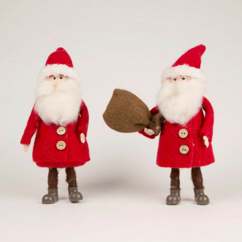Felt Santa Sack and Bell Standing Decoration