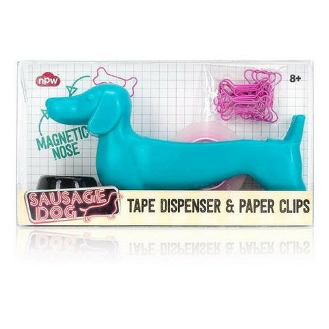 Sausage Dog Tape Dispenser and Paper Clips From Hyde and Seek