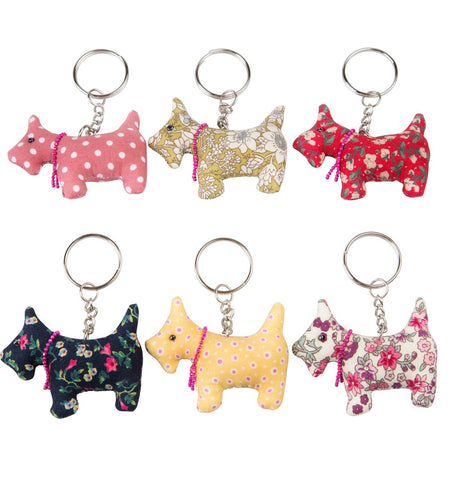 Assorted Scottish Scottie Dog Key Ring by Sass & Belle