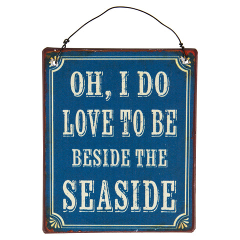 Mini Beside the Seaside Metal Sign by Sass & Belle