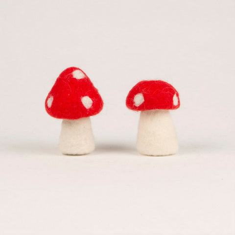 Small Felt Toadstool Standing Decoration