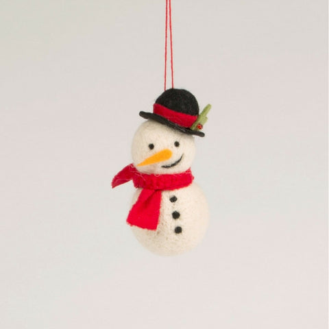Felt Smiley Snowman Hanging Decoration