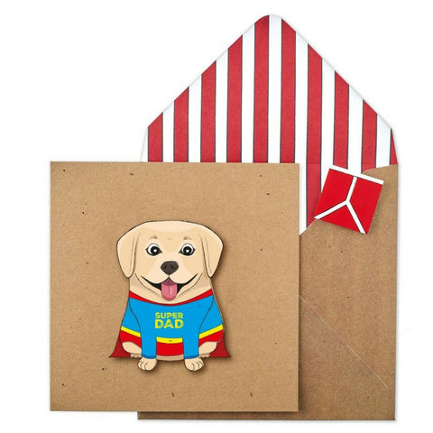 Buy Super Dad Labrador Card from Hyde and Seek