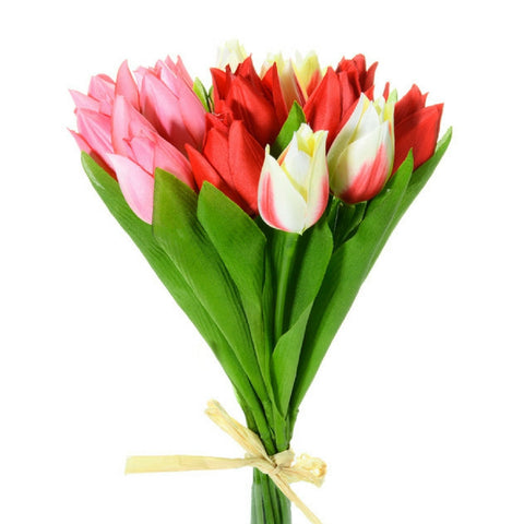 Buy Tulip Flower Bundle in Red and Cream from Hyde and Seek